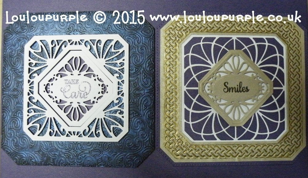 Creative Expressions Craft Dies By Sue Wilson Noble Collection Classic Adorned Squares CED5503, Noble Collection Ornate Pierced Squares CED5504
