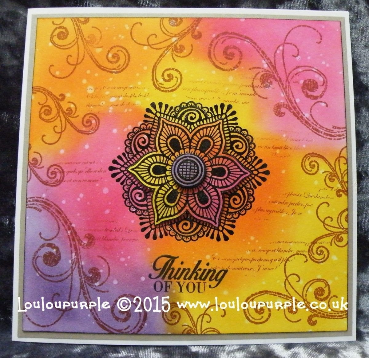 #lovesummerart How To Make A Heat Embossed Card, Using Distress Inks And Micro Glaze.