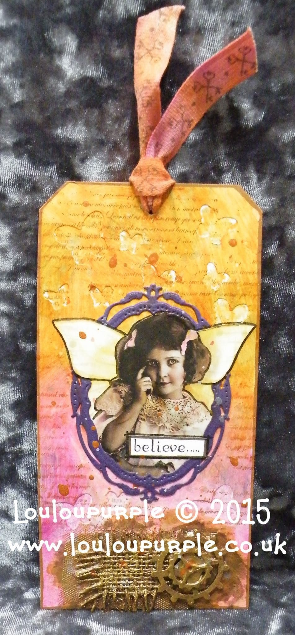 My First Entry For Tim Holtz's 12 Tags Of 2015 - August.