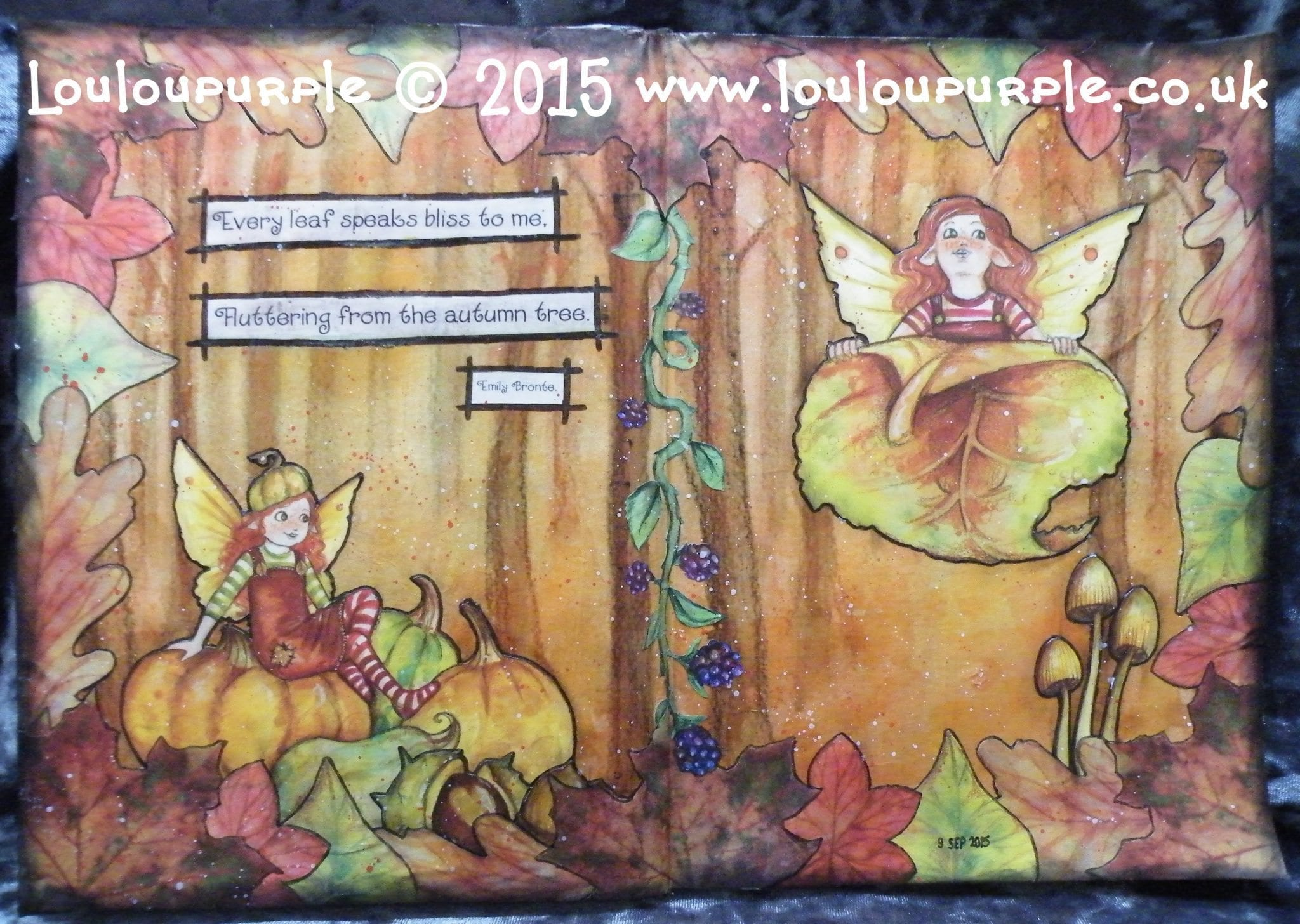 #LoveFallArt Mixed Media, Art Journaling, Fall.