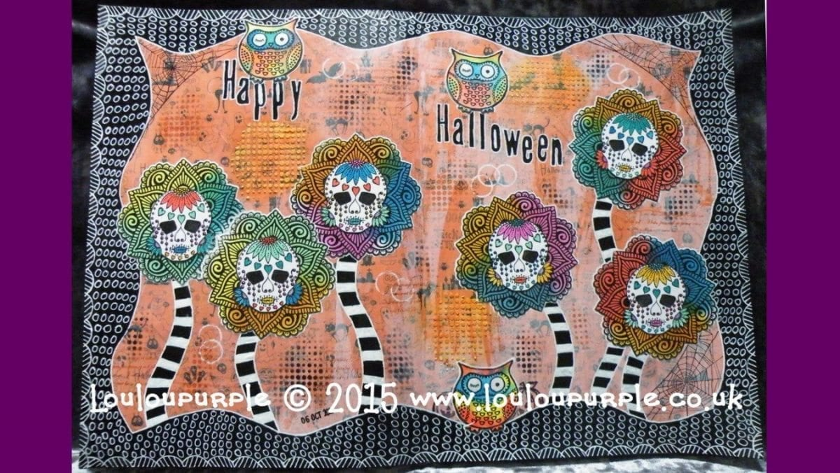 Mixed Media, Art Journaling. Halloween. Using Free Gift From Craft Stamper Magazine.