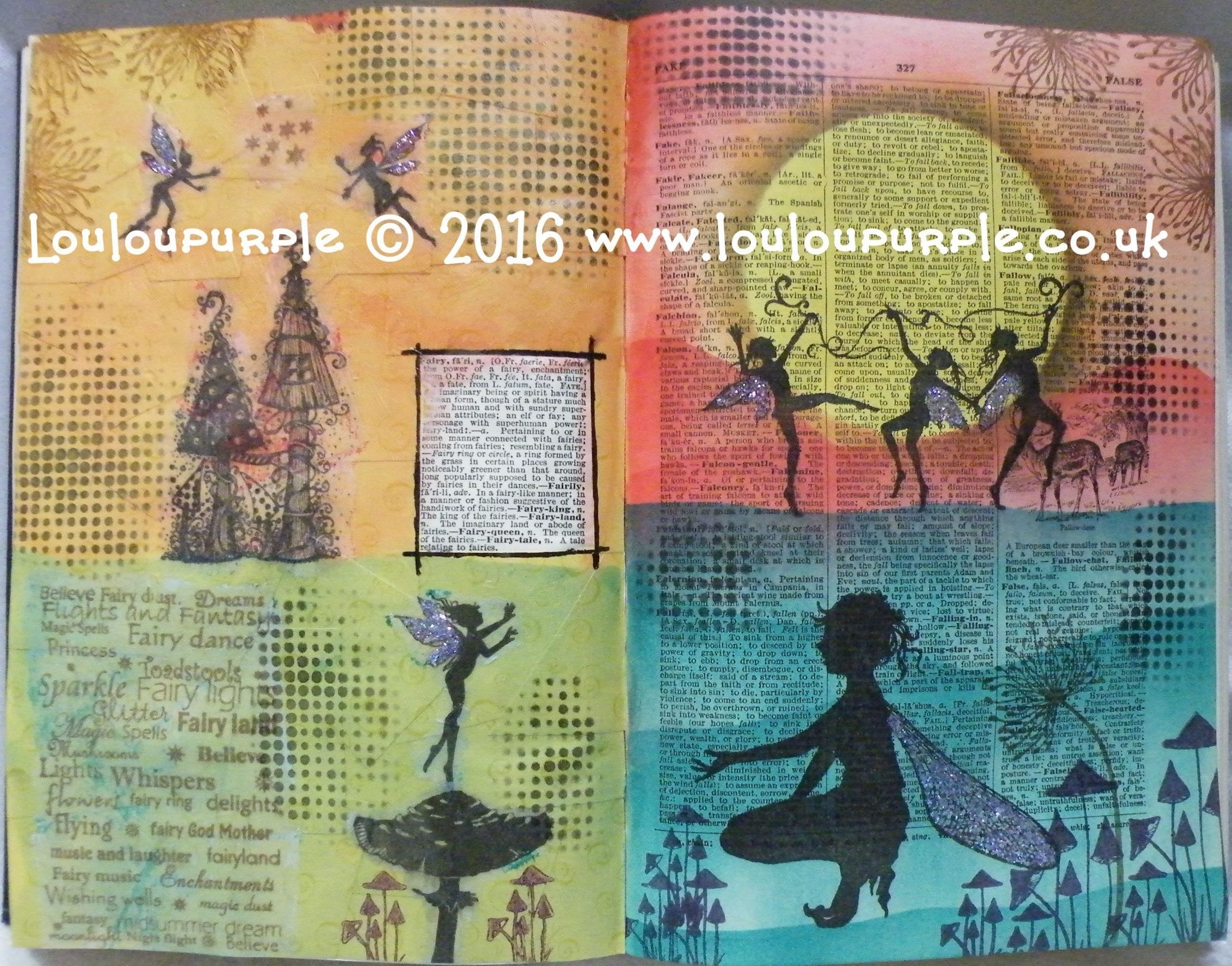 Dictionary Art Journal Fairy.