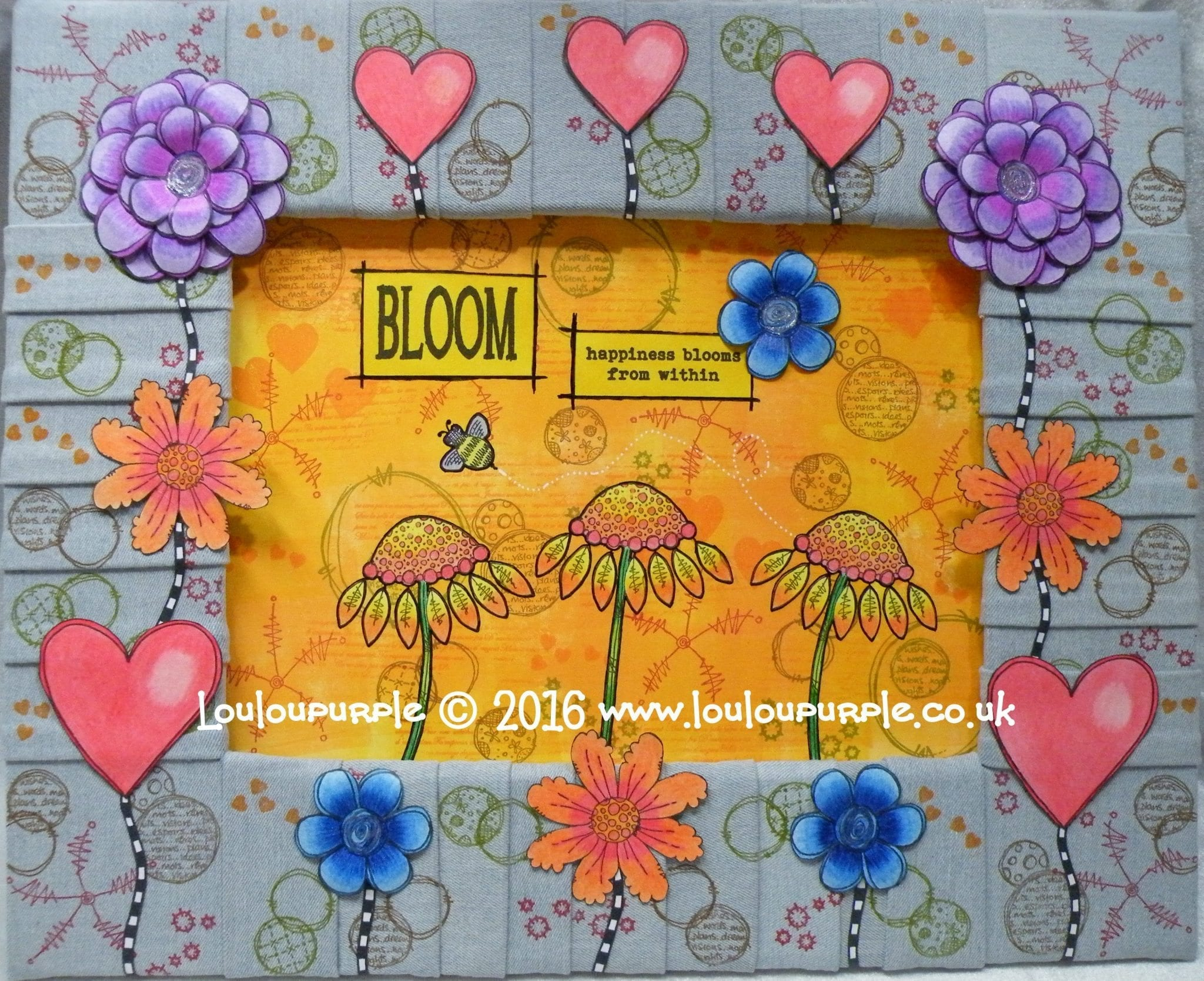 Mixed Media Window Display Using PaperArtsy Stamps.