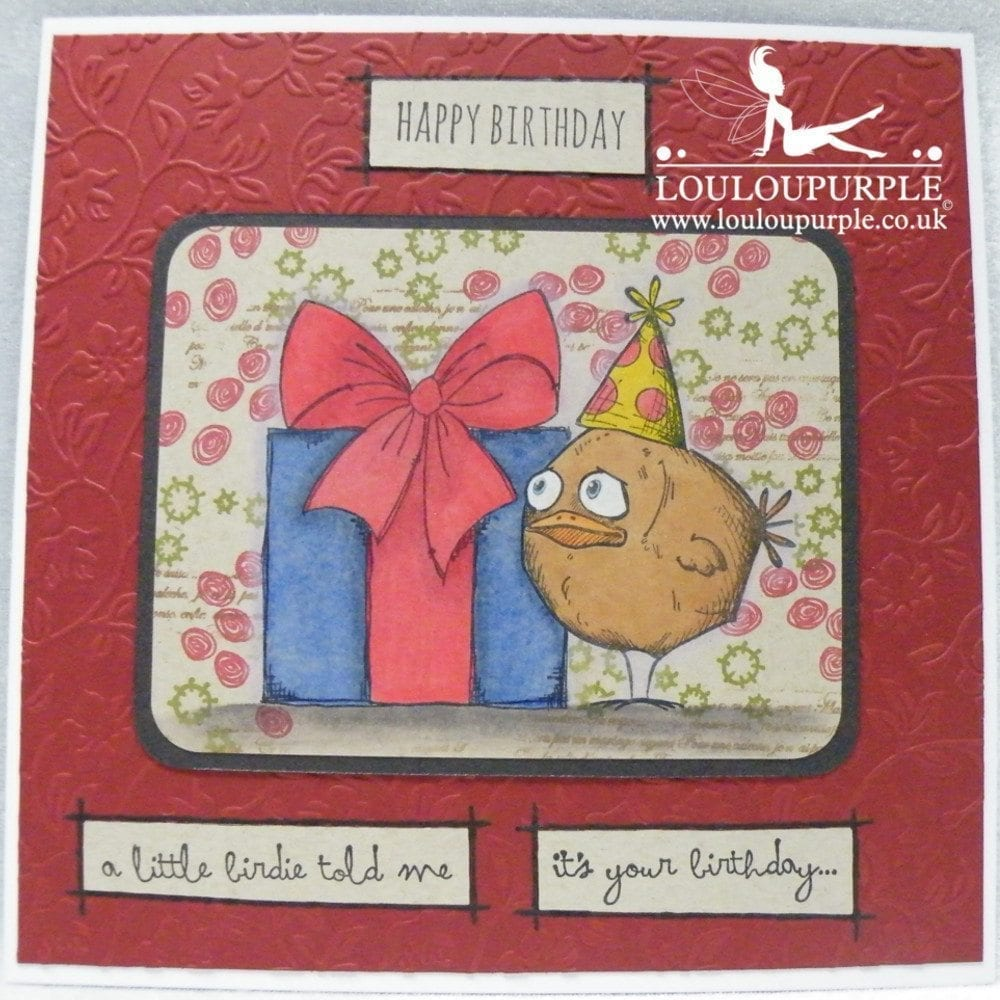 Birthday Card using Bird Crazy and PaperArtsy Stamps