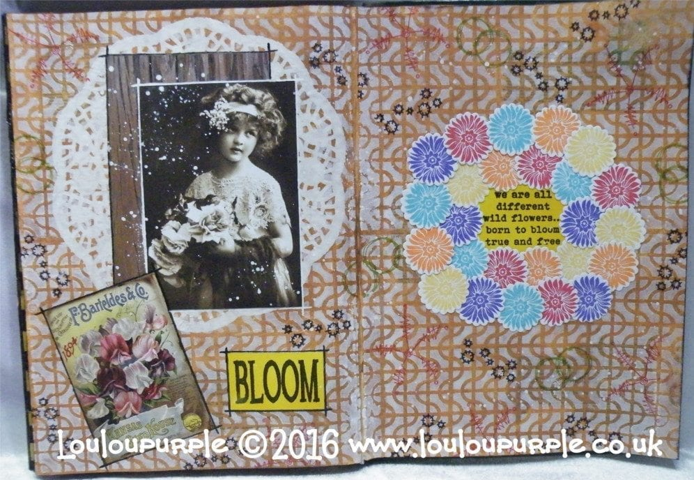 Mixed Media Art Journal Page, Video Hop. Pass it On Conspiracy.