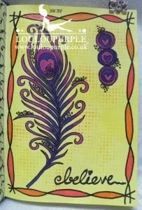 Feather Art Journal Page.
