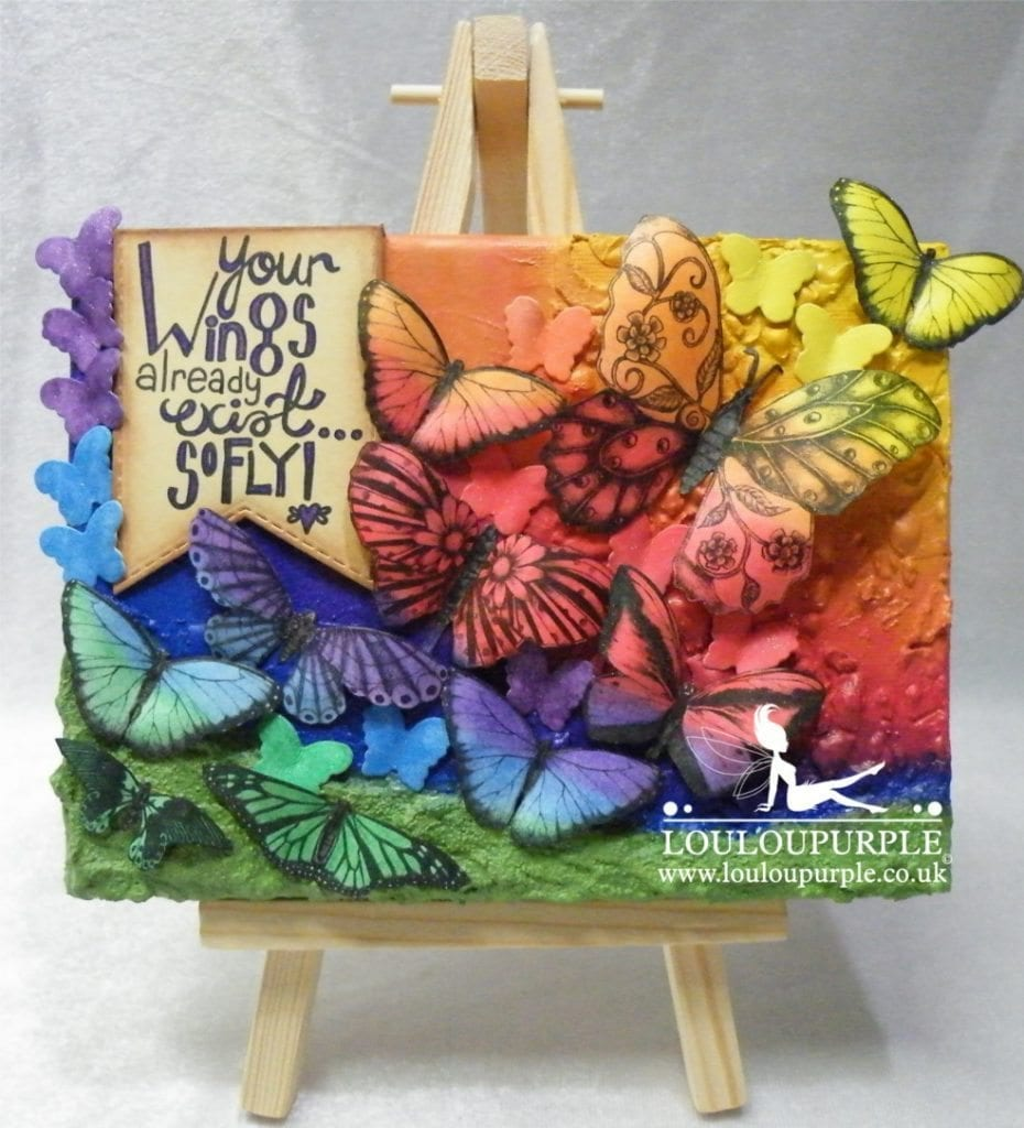 Mixed Media Butterfly Canvas.