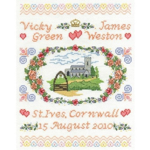 Wedding & Baby Sampler Cross Stitch, Embroidery & Tapestry
